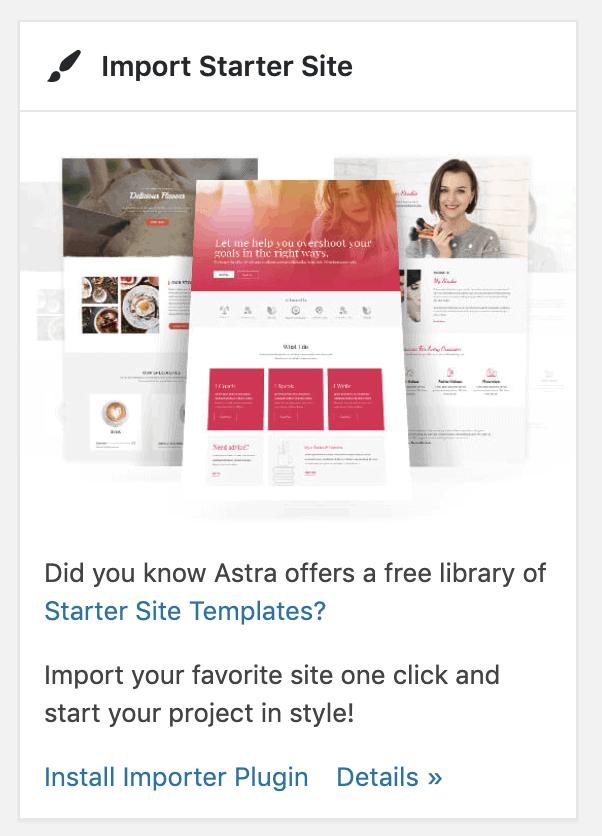 Import Starter Site