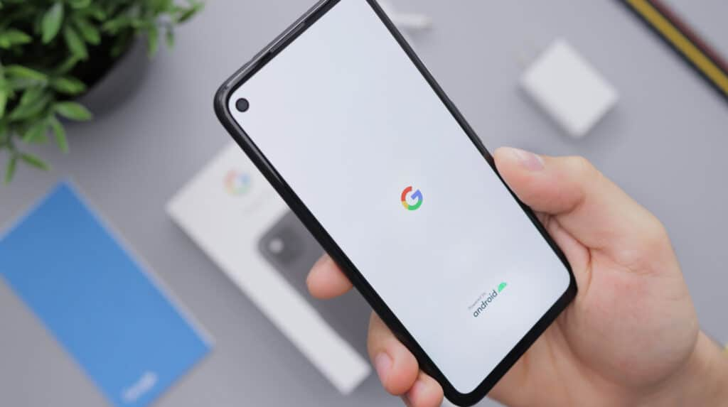 Phone with Google image